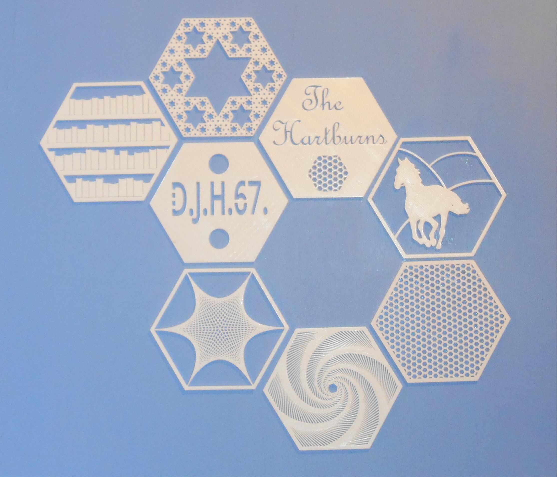 Hexagon mural