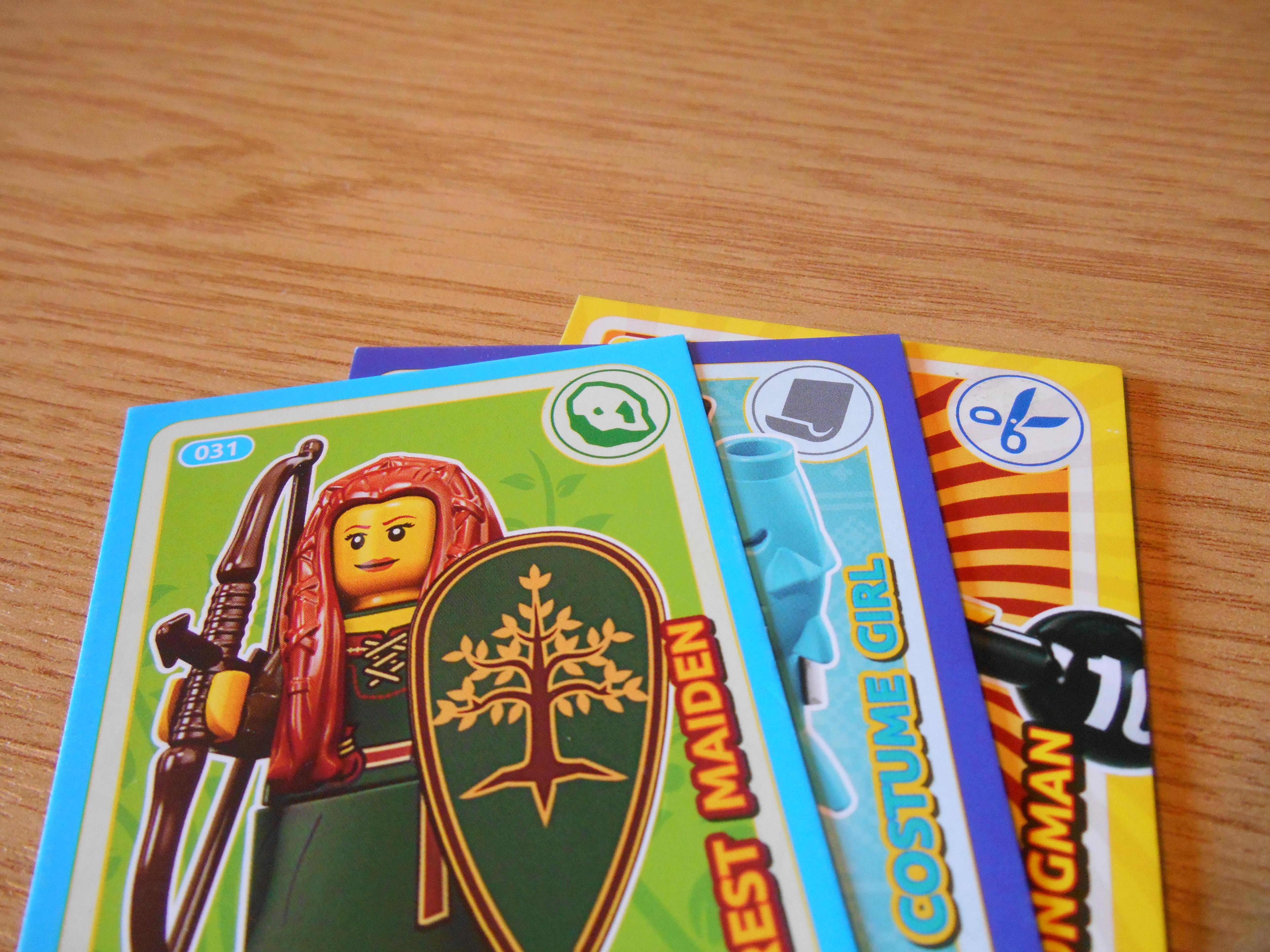 Lego rock, paper, scissors cards