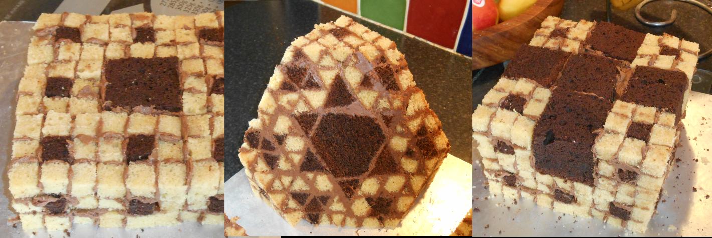 Menger Sponge Sponge Cake